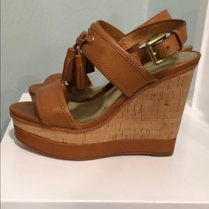 Coach Leather Wedges